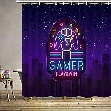 JHTRSJYTJ Neon sign Shower curtain is suitable for