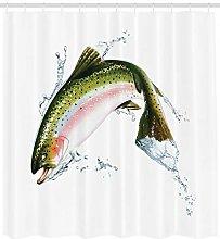 JHTRSJYTJ Salmon realistic art image Shower