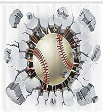 JHTRSJYTJ Sports Baseball Wall Concrete Shower