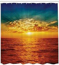 JHTRSJYTJ Sunset clouds magical seaside scene