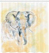 JHTRSJYTJ Wildlife Elephant Shower curtain is