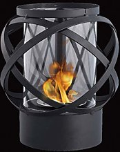 JHY Design Round Tabletop Bioethanol Fireplace,