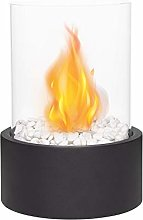 JHY DESIGN Tabletop Bioethanol Fireplace, Fire