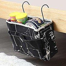 JIAAN Bedside Bag 2 Pieces Bed Storage Organizer