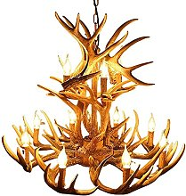 JIAChaoYi American Deer Horn Chandelier 12 Lights,