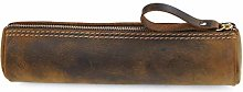 JIAGU Genuine Leather Case for Pencils and Brushes