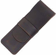 JIAGU Genuine Leather Pen Case with Sleeve