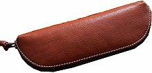JIAGU Leather Pencil Pouch with Zipper,Pen Case
