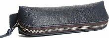 JIAGU Vintage Leather Pencil Case Pencil Bag Pouch