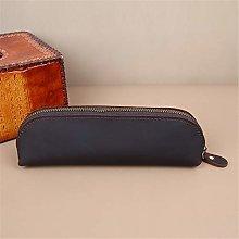JIAGU Vintage Leather Pencil Case,Pencil Bag Pouch