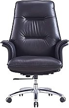JIAH Office Chair Office Swivel Lift Chair Leather
