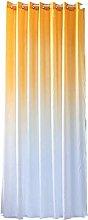 JIAHU Curtains Elegant Gradient Printed Tulle