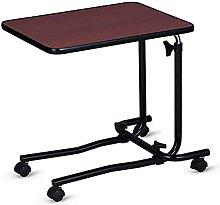 JIAJBG Adjustable Laptop Desk with Wheels Standing