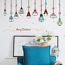 JIAJBG Christmas Chandelier Wall Stickers