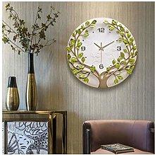 JIAJBG Clock Modern 3D Wall Parlor Mute Wall