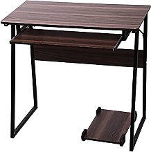 JIAJBG Computer Desk Trapezoidal Computer Desk