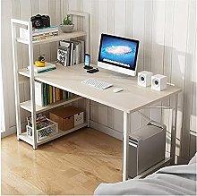 JIAJBG Computer Desk with 3 Tiers Shelves 47.2