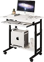 JIAJBG Computer Desk with Roller, Mobile Stand