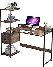 JIAJBG Computer Desk with Storage Shelf, Modern