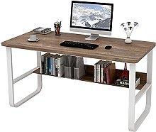 JIAJBG Computer Desk with Storage Shelves 47 inch