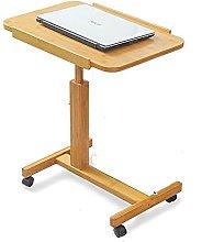 JIAJBG Computer Desk with Wheel, Modern Study