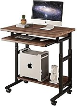 JIAJBG Computer Desk with Wheels and Raised