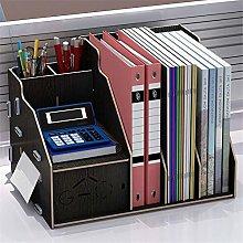 JIAJBG Office Storage Box Bookcase with