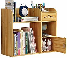 JIAJBG Office Storage Box Wood Desk Organizer