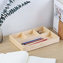 JIAJBG Office Storage Box Wooden Desk Supply