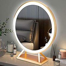 JIAJBG Round Illuminated Led Light Makeup Mirror -