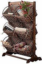JIAJBG Storage Basket Shelf Baskets 3 Tier Floor