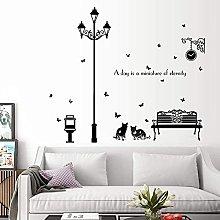 JIAJBG Wall Decoration Wall Stickers Street Lamp