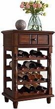JIAJBG Wine Rack Wooden Wine Rack Wine Cabinet