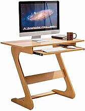 JIAJBG Wooden Laptop Desk Computer Table with