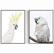 JIAJIFBH Canvas printing White Cockatoo Canvas