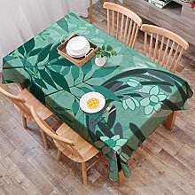 JIALIANG Cotton linen tablecloth with fringed