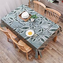 JIALIANG Washable cotton linen tablecloth spliced