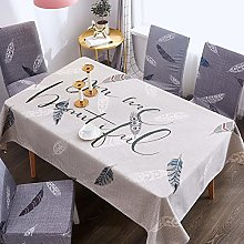 JIALIANG Waterproof tablecloth for tablecloths,