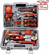JIAMING Household Toolbox Set, 26-Piece Tool Set
