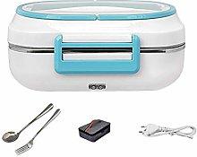 JIANGAA Electric Lunch Box 2 in 1 Portable Food