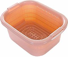 JIANGAA Household Washing Basket, Kitchen Double
