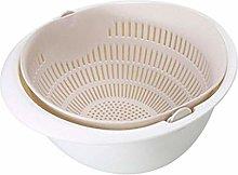 JIANGAA Kitchen Drain Basket, Detachable Double