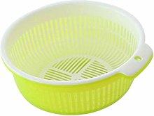 JIANGAA Kitchen Drain Basket, Double Wash Basket