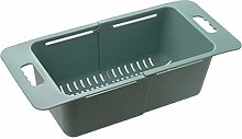 JIANGAA Kitchen Drain Basket, Retractable Sink