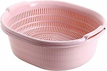 JIANGAA Kitchen Washing Basket, Double Fruit and