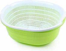 JIANGAA Kitchen Washing Basket, Household Hollow