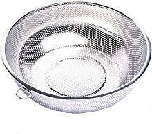 JIANGAA Kitchen Washing Basket, Round Stainless