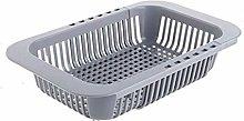 JIANGAA Pool Sink Sink Drain Basket Kitchen Rack