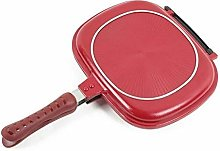 JiangKui 32Cm Double Side Grill Fry Pan Cookware