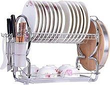 JiangKui Dish Drying Shelf Dishwasher 2 Tier Dish